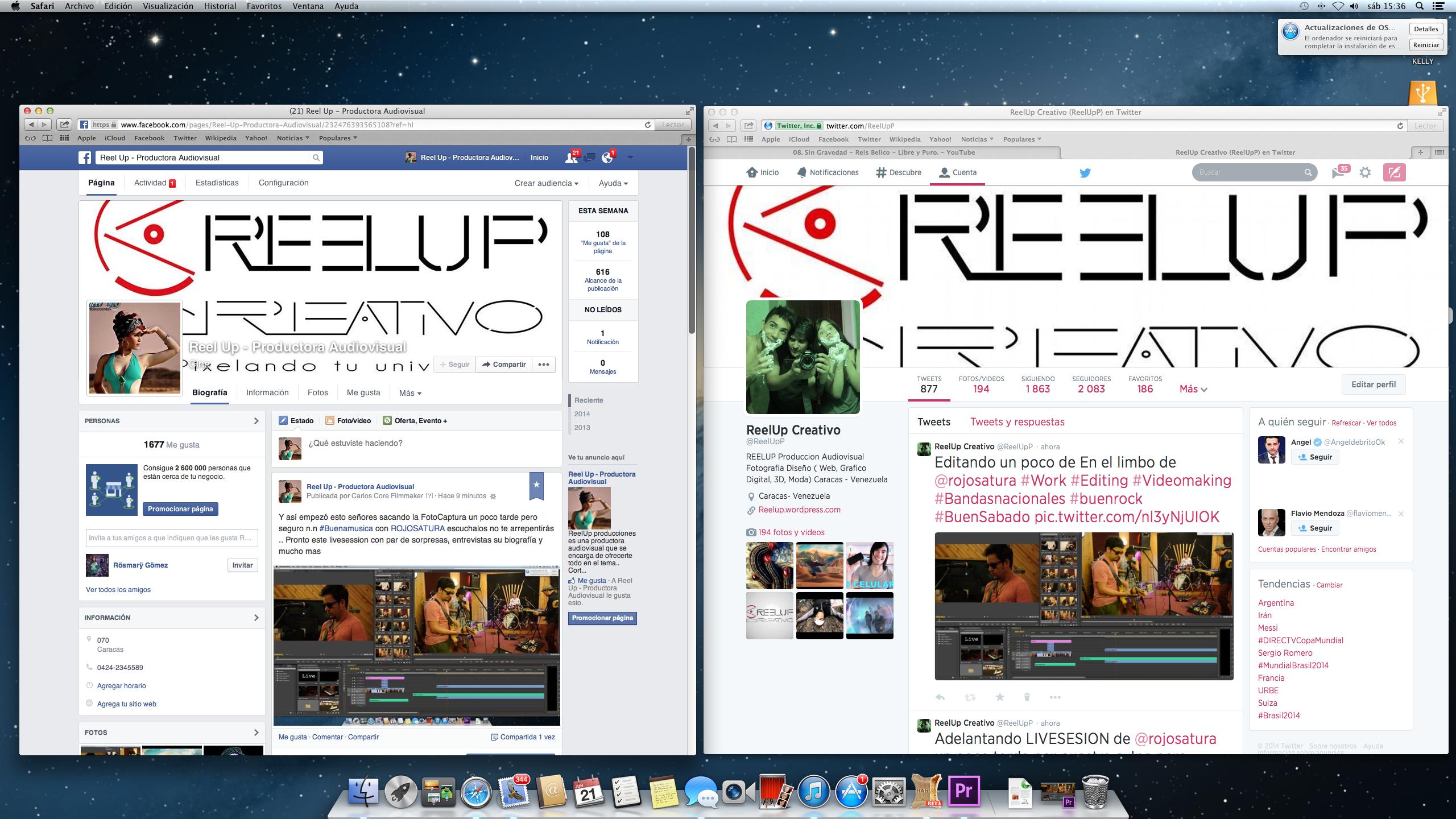Redes Sociales de ReelupCreativo