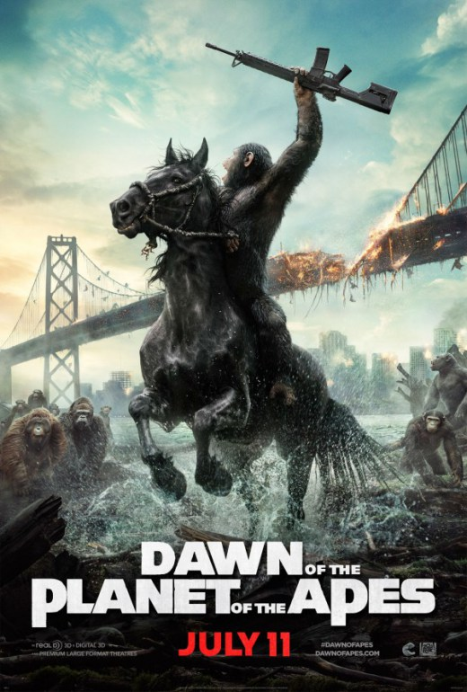 Nuevo póster de 'Dawn of the Planet of the Apes'