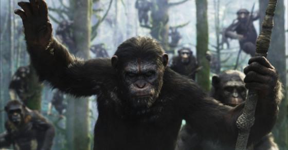 "Escena de ""Dawn of the Planet of the Apes""."